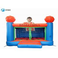 Wholesale High quality kids games basketball castle inflatable trampoline castle from china suppliers
