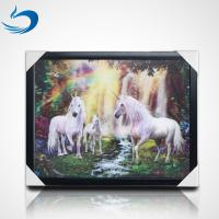 Wholesale Home Decoration 3D Lenticular Picture Of Customize Horses Lenticular 3D Poster from china suppliers