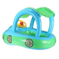 """Wholesale Cartoon Car Inflatable Float Boat With Sunshade PVC Ring Tube For Infants 30*22"""" from china suppliers"""