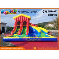 Wholesale Water - Proof Giant Inflatable Water Slide / Outdoor Inflatable Pool Park from china suppliers