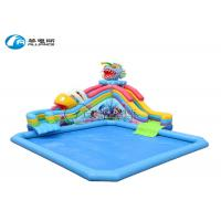 China water park inflatable Piranha water slide with pool on sale