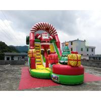Wholesale Santa Claus Commercial Inflatable Slide Christmas Bouncy Castle For Public from china suppliers