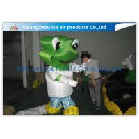 Wholesale Green Head Frog Inflatable Cartoon Characters Inflatable Animal Costume Adult Size from china suppliers
