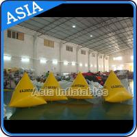 Wholesale Inflatable Swim Buoys , Triangular Shape Marker Floating For Advertising from china suppliers