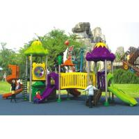 Wholesale 2015 popular design Galvanized steel pipe kids outdoor playground equipment plastic slide from china suppliers