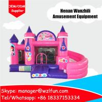 Wholesale princess castle inflatable toys castle bouncy castle pvc material from china suppliers