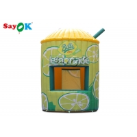 Wholesale 3.5x5.3mH 0.4mm Inflatable Lemonade Stand Booth Tent For Display from china suppliers