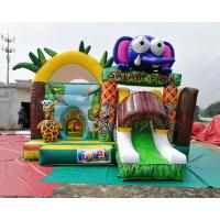 Wholesale Safari Park Inflatable Bouncy Castles Digital Printing Combi Slide Bouncer from china suppliers