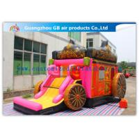 Quality Giant Outdoor Car Inflatable Princess Bouncy Castle With Slide For Children Toys for sale