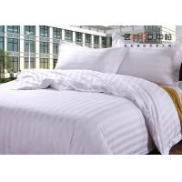 Buy cheap Luxury 250TC Colorful School Hotel Bedding Sets Queen Size Plain Stripe Design from wholesalers
