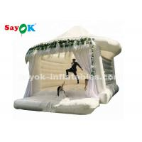 Wholesale Commercial Outdoor White Inflatable Bounce For Wedding Customized Size from china suppliers