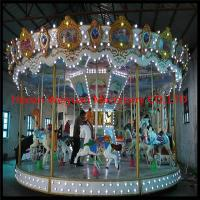China Popular and durable carousel horse for kids mechanical carousel horse ride on sale