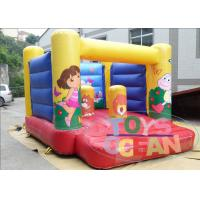 Wholesale Yellow Indoor Playground With Bouncy Castle / Mini Jumping Castles For Rent from china suppliers