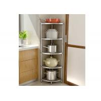 Wholesale H134 Multi - Layer Stainless Steel Wire Kitchen Racks Corner Fan - Shaped Storage Rack from china suppliers