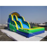 Wholesale bounce round inflatable water slide , above ground pool water slide from china suppliers