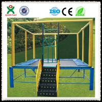 Wholesale Commercial Square Trampoline for Sale / Outdoor Gymnastic Trampoline for Toddler QX-117G from china suppliers