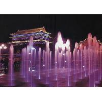 Stainless Steel 304 Lighted Water Fountains / Modern Floor Fountain CE Approval