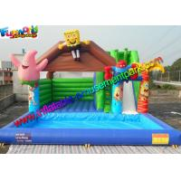 China 0.55mm PVC Spongebob Inflatable Bouncer Slide Pool Durable Outdoor on sale