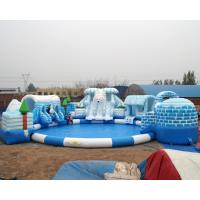 Wholesale high quality snow design inflatable water park for kids and adult on land from china suppliers