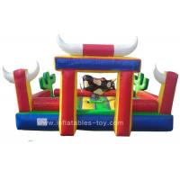 China Commercial Inflatable Sports Games Riding Machine Inflatable Mechanical Bull For Park on sale