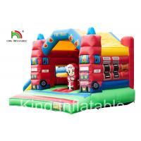 Slide Type Fire Truck Trampoline Inflatable Jumping Castle For Indoor Kids