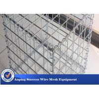 China Silver Galvanized Gabion Mesh Cage / Stone Cage Wire Mesh Easy Install on sale