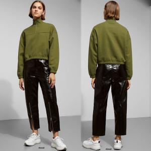 Wholesale New Fashion Fall Clothing Turtle Neck Zipper Sweatshirt Women from china suppliers