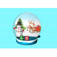 China High Quality Transparent PVC Inflatable Snowball Model For Christmas Indoor Decoration on sale