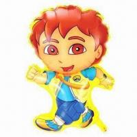 Buy cheap Dora boy advertising balloon, sized 77 x 49cm, made of PA and PE from wholesalers