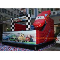 China 5*5*4M PVC Tarpaulin Inflatable Bouncy Castle Car Theme Slide for kids on sale