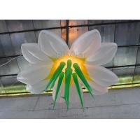 China Multi Color Hanging Lighting Large Inflatable Flowers With Led Bulb on sale