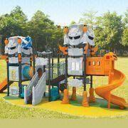 Wholesale Outdoor Playground Equipment with Electro-static Powder Coating Finish and UV-resistant PE Roofs from china suppliers