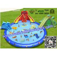 Wholesale Customized  Outdoor Inflatable Water Park  for Adults , Inflatable Pool Water Slides from china suppliers