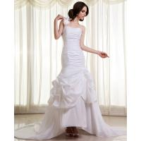Wholesale Womens Extra Long Train ruffled slim Wedding Dresses with Flower Shaped from china suppliers
