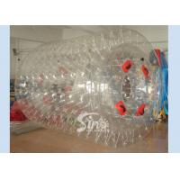 China 2.6m cylinder shape PVC inflatable water roller ball for kids pool and lake entertainment on sale
