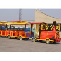 High quality Amusement kids Park Electric Trackless Sightseeing Tourist Road Train rides for sale
