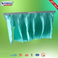 Wholesale F5 F6 Multi Pockets Bag Filter Systems / Green Pocket Filter from china suppliers