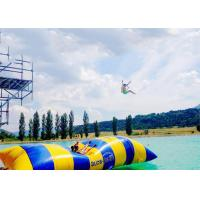 Wholesale Crazy Inflatable Water Trampolines / Inflatable Water Pillow For Jumping from china suppliers