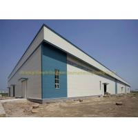 China Waterproof Warehouse Steel Structure Grade Q235B / Q345B Prefab Warehouse on sale