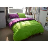 Wholesale Green 100% Dyeing Cotton 200TC Student Dorm Bed Sheets For Children / Adult from china suppliers