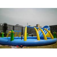 Wholesale Outdoor Adults Giant Inflatable Water Slide And Pool PVC 0.55mm With Blower from china suppliers