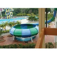 Wholesale Space Bowl Fiberglass Water Slide Equipment Blue / Green 13m Platform Height from china suppliers