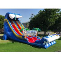 Wholesale Giant Inflatable Water Slides For Adult , Commercial 24′ Shark Sighted Dual Lane Slide , from china suppliers