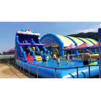 Quality water slide with pool for sale