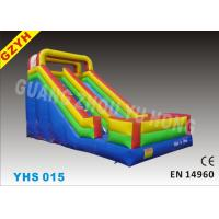 Wholesale Colorful Backyard 0.55mm PVC Custom Commercial Inflatable Slides, Blow Up Slide YHS 015 from china suppliers