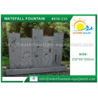 Buy cheap Beautiful Waterfall Water Fountain , Outdoor Stone Water Fountains 230*60*200cm from wholesalers