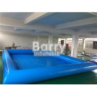 Buy cheap Durable Blue Kids Square Inflatable Swimming Pool With Inflatable Water Toys from wholesalers