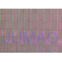 Wholesale Pink Color Metal Glass Laminated Wire Mesh Fabric For Decoration Design from china suppliers