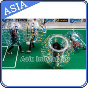 China Transparent 1.8m Body Zorbing Bubble Bumper Sumo Balls For Big Man Soccer Games on sale