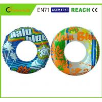 Wholesale Machine Print Swimming Float Inflatable Pool Rings For Adults 0.25mm Thickness from china suppliers